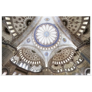 """""""Wideangle view of Blue Mosque ceiling"""" Poster Print"""