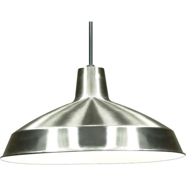 "Nuvo Lighting 76/661 Single Light 16"" Wide Pendant - Brushed nickel"