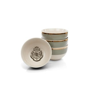 Link to Harry Potter Hogwarts Emblem White & Grey Ceramic Bowl Collection  Similar Items in Decorative Accessories
