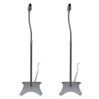 vidaXL Universal Speaker Stand Silver 2 pcs