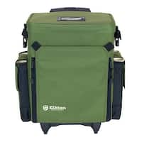 Elkton Outdoors Rolling Tackle Box Green