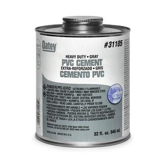 Oatey 31105 Heavy Duty Solvent Cement, 32 Oz, Grey