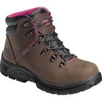 Avenger Women's A7125 Steel Toe EH Waterproof Hiker Brown Leather