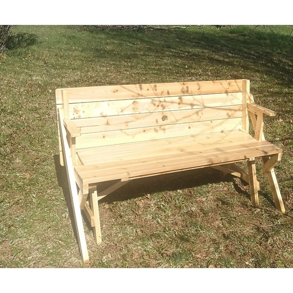 Shop Outsunny 2 In 1 Convertible Picnic Table U0026 Garden Bench   Free  Shipping Today   Overstock.com   18109277