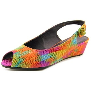 Vaneli Elrica W Peep-Toe Synthetic Slingback Heel