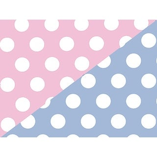 "Pack Of 1, Baby Dots 24"" X 417' Roll Reversible Gift Wrap For Approximately 175 -200 Gifts Made In Usa"