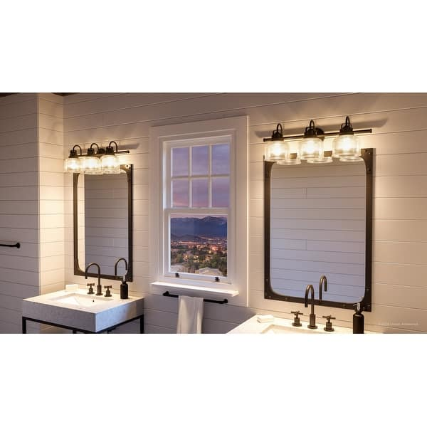 Luxury Industrial Chic Bathroom Vanity Light 8 75 H X 26 25 W With Farmhouse Style Fashion Bronze Finish By Urban Ambiance On Sale Overstock 28670682