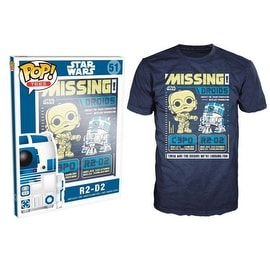 Funko Pop Blue Star Wars C3po R2d2 Poster T-Shirt