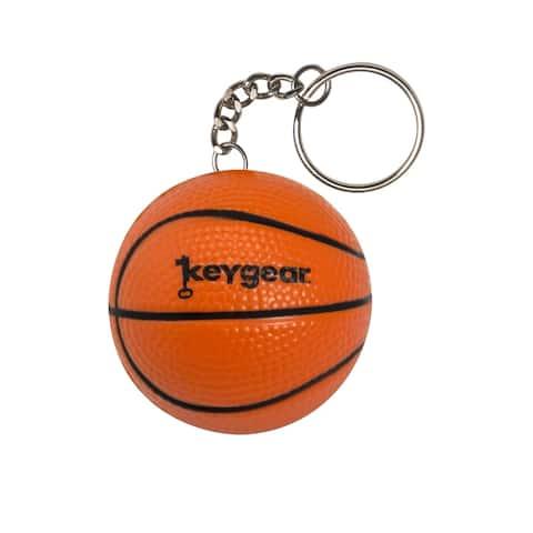 Keygear 50-KEY0448 Coiled Key Chain, Rubber, Orange
