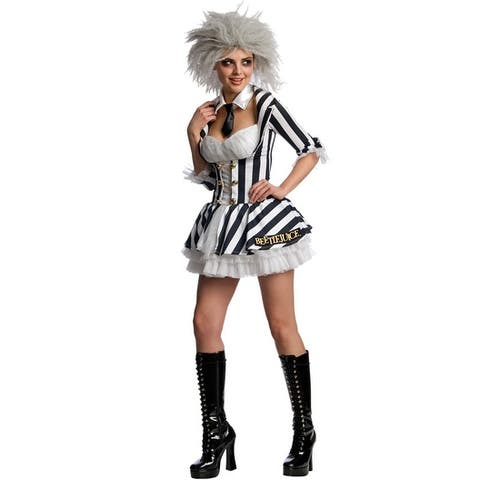 Rubies Beetlejuice Secret Wishes Beetlejuice Adult Costume - Black/White