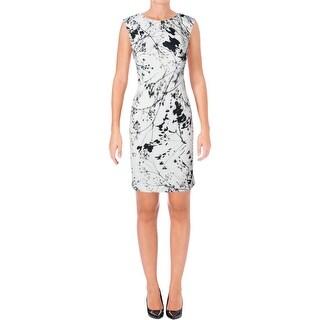 Tahari Womens Wear to Work Dress Printed Sleeveless