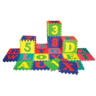 Wonderfoam Alphabet and Number Interlocking Puzzle Mats, Set of 72