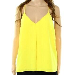 Polo Ralph Lauren NEW Yellow Lemon Women's Size Large L V-Neck Blouse
