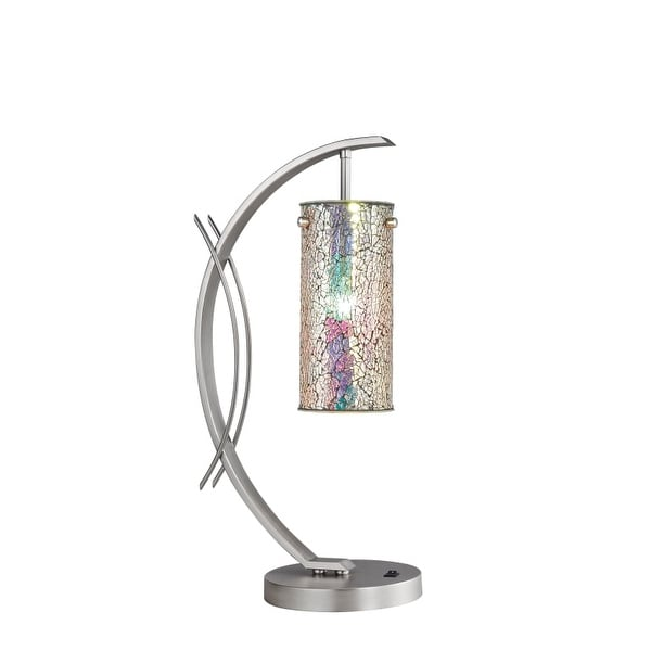 Woodbridge Lighting 13482STN-M10IRI 1 Light Table Lamp from the Eclipse Collection - n/a