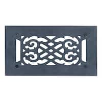 Heat Air Vent Grille Cast Aluminum Victorian 5.5 x 10 Overall