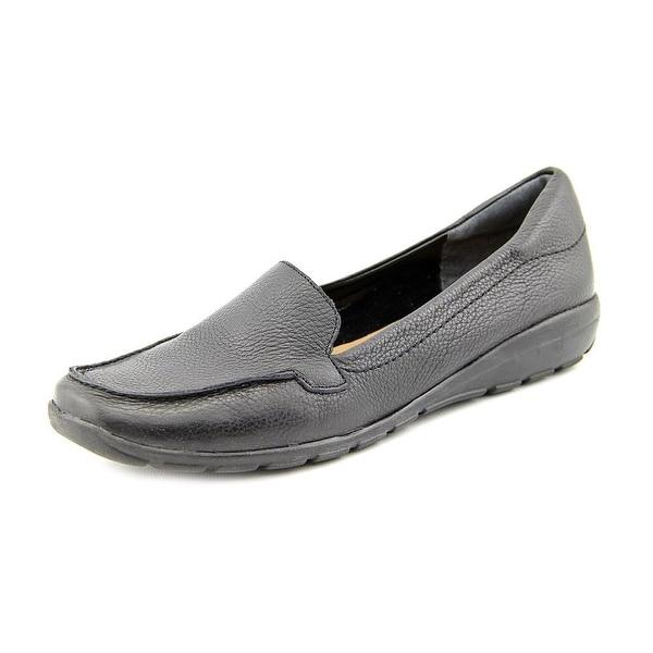 f341a8c1df1 Shop Easy Spirit Abide Women Moc Toe Leather Black Loafer - Free ...