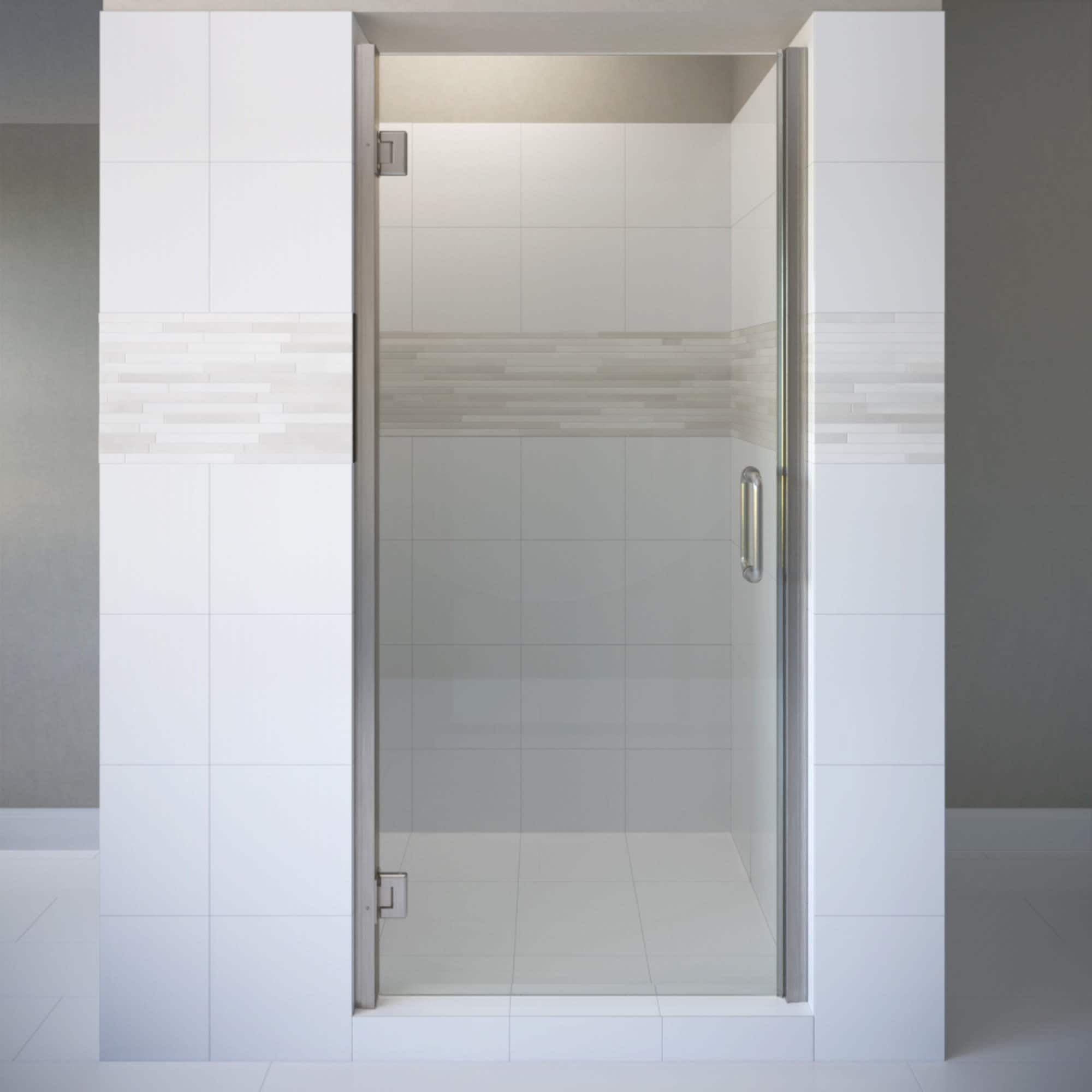 Basco Copa00a3072xp Coppia 72 High X 30 9 16 Wide Hinged Frameless Shower Door With Autoglidexp Clear Glass