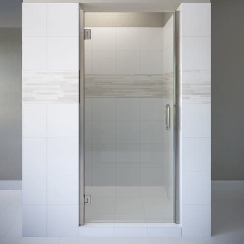"Basco COPA00A3372XP Coppia 72"" High x 33-9/16"" Wide Hinged Frameless Shower Door with AutoGlideXP Clear Glass"