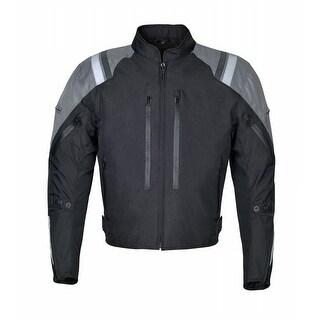 Men Motorcycle Waterproof Textile Jacket Grey MBJ057-2
