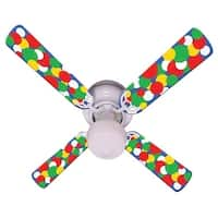 Bold Big Dots Print Blades 42In Ceiling Fan Light Kit - Multi