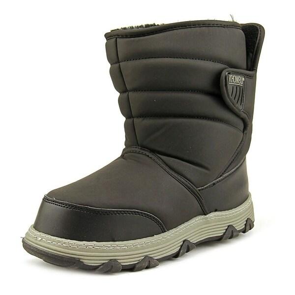 Khombu Wanderer Women Round Toe Synthetic Black Winter Boot