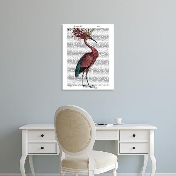 Easy Art Prints Fab Funky's 'Crowed Marsala Heron' Premium Canvas Art