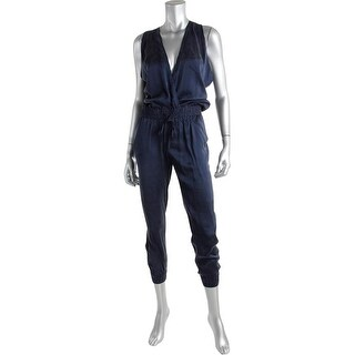 Paige Womens Silk Sleeveless Jumpsuit - XS