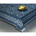Handmade 100-percent Cotton Sunflower Tapestry Bedspread Tablecloth Blue Gray - Sizes: Twin Full Queen King - Thumbnail 1