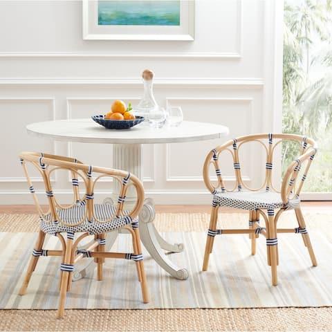 "SAFAVIEH Kanan Coastal Rattan Dining Room Chair (Set of 2) - 20.9"" W x 22.4"" L x 28.7"" H"