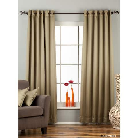 Olive Green Ring / Grommet Top blackout Curtain / Drape / Panel - Piece