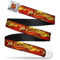 The Flash Full Color Red Black Yellow The Flash Running Pose Retro Wave Seatbelt Belt