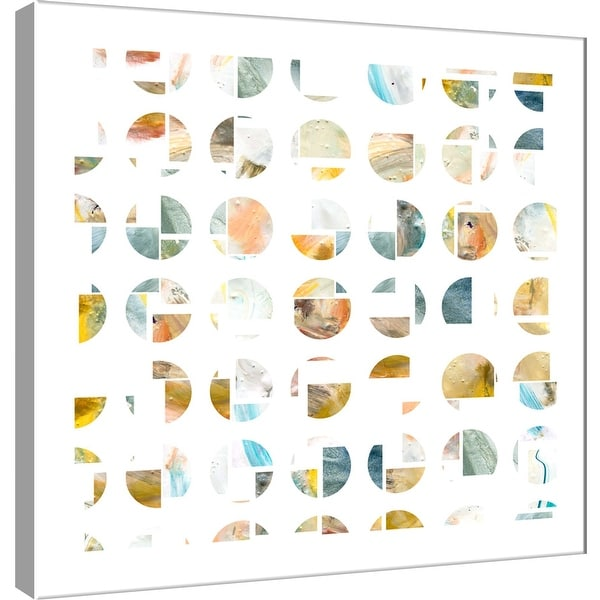 "PTM Images 9-101121 PTM Canvas Collection 12"" x 12"" - ""Circle Grid F"" Giclee Abstract Art Print on Canvas"