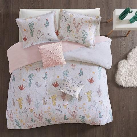 Urban Habitat Kids Cacti Red Cotton Printed Duvet Cover Set