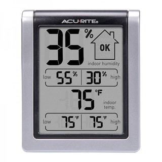 Acu-Rite 00613CASB Indoor Digital LCD Humidity Comfort Monitor with Temperature