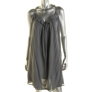 L'Agence Womens Tank Dress Silk Pleated