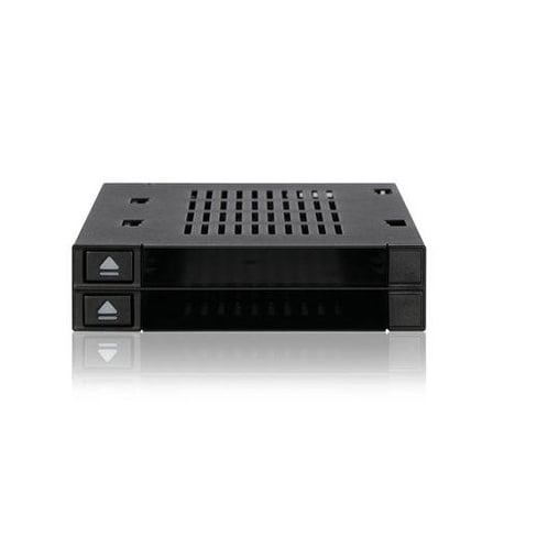 Icy Dock Dual Bay 2.5 To 3.5 Sata/Sas Ssd/Hdd Trayless Hot-Swap Dock/Mobile Rack