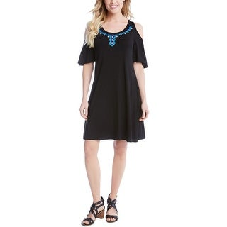 Karen Kane Womens Cocktail Dress Shift Cold Shoulder
