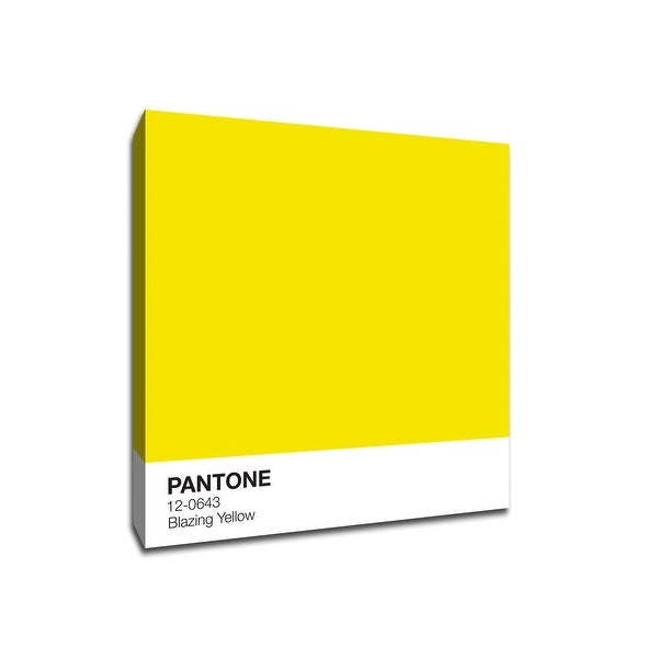 Blazing Yellow - Pantone - 16x16 Gallery Wrapped Canvas Wall Art