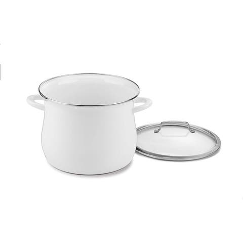 Cuisinart EOSB126-28W Enamel on Steel 12 Qt. Stockpot w/Cover, White