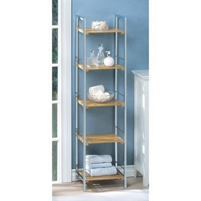 Osaka Bamboo And Chrome Shelf