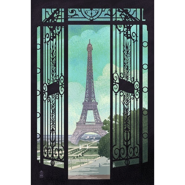 Paris, France Eiffel Tower Lithograph - LP Artwork (Light Switchplate Cover)