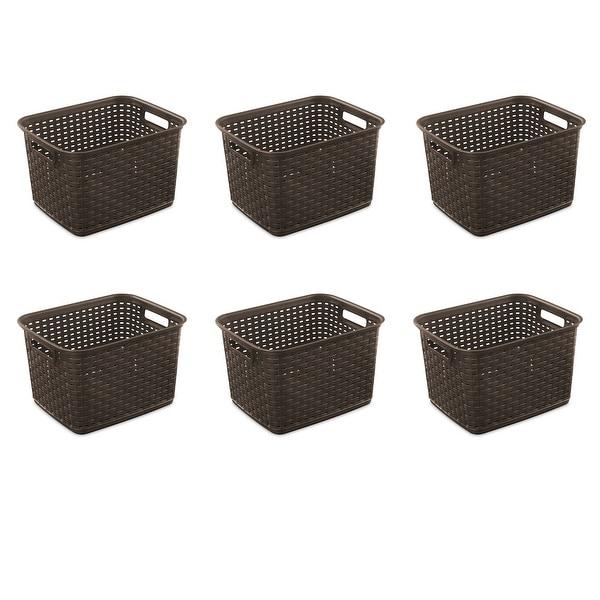 STERILITE Tall Weave Baskets, Espresso - Case of 6. Opens flyout.