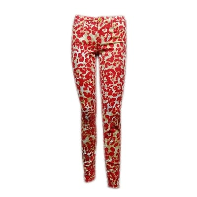 ca2792fa3 Shop Celebrity Pink Juniors' Animal-Print Skinny Pants - Free Shipping On Orders  Over $45 - Overstock - 14815575