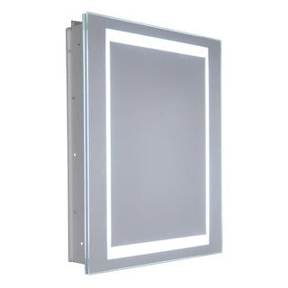 "Miseno MMCR2026LED-R 20"" W x 26"" H Frameless Recess Mounted Single Door Medicinc"