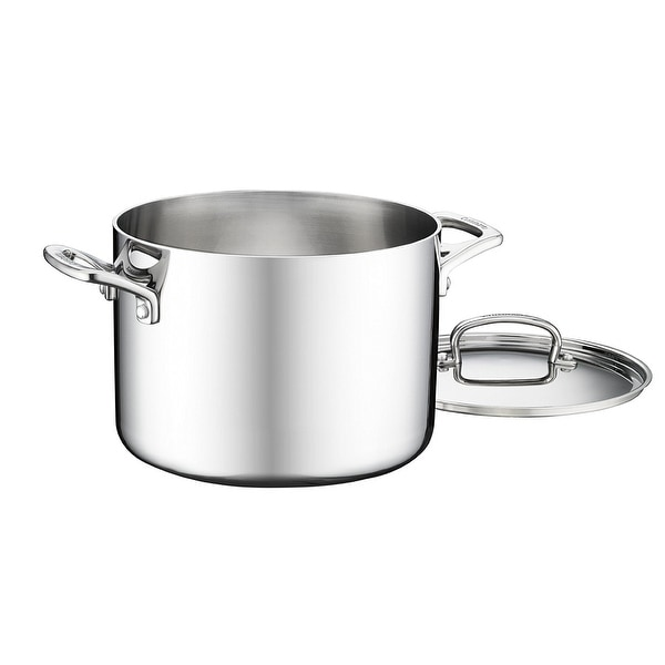 Cuisinart FCT66-22 French Classic Tri-Ply Stainless 6-Quart Stockpot with Cover. Opens flyout.