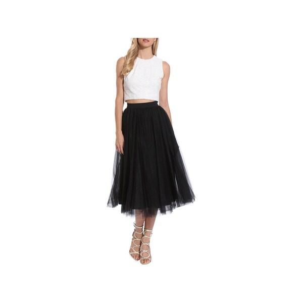eae3ebfc581 Shop Belle Badgley Mischka Womens Nadine Crop Top Sleeveless Zip ...