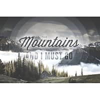 John Muir The Mountains are Calling LP Photography (Art Print - Multiple Sizes)