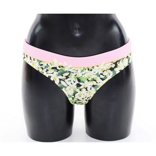 Dolce & Gabbana Dolce & Gabbana Pink Floral Bikini Bottom Swimwear Beachwear - it1-xs