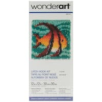 "Wonderart Latch Hook Kit 12""X12""-Angel Fish"