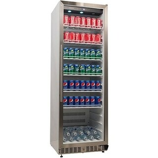 EdgeStar VBR640 24 Inch Wide 14 Cu. Ft. Built-In Commercial Beverage Merchandiser with Temperature Alarm